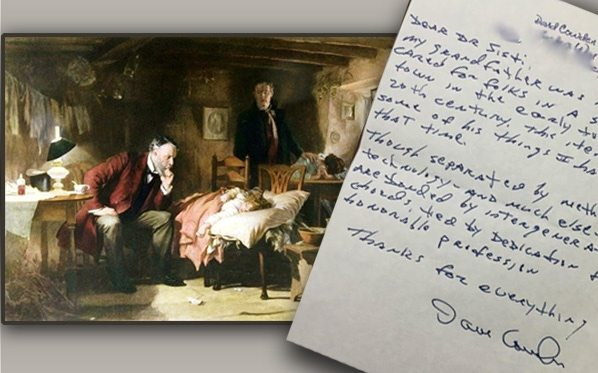 'The Doctor' print and patient letter
