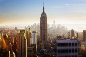 Manhattan Skyline View at Sunrise