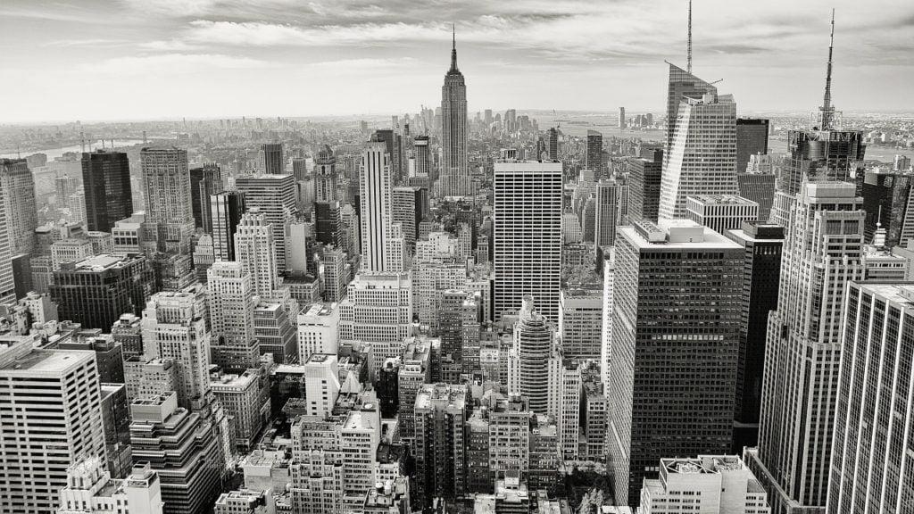 New York birds eye view